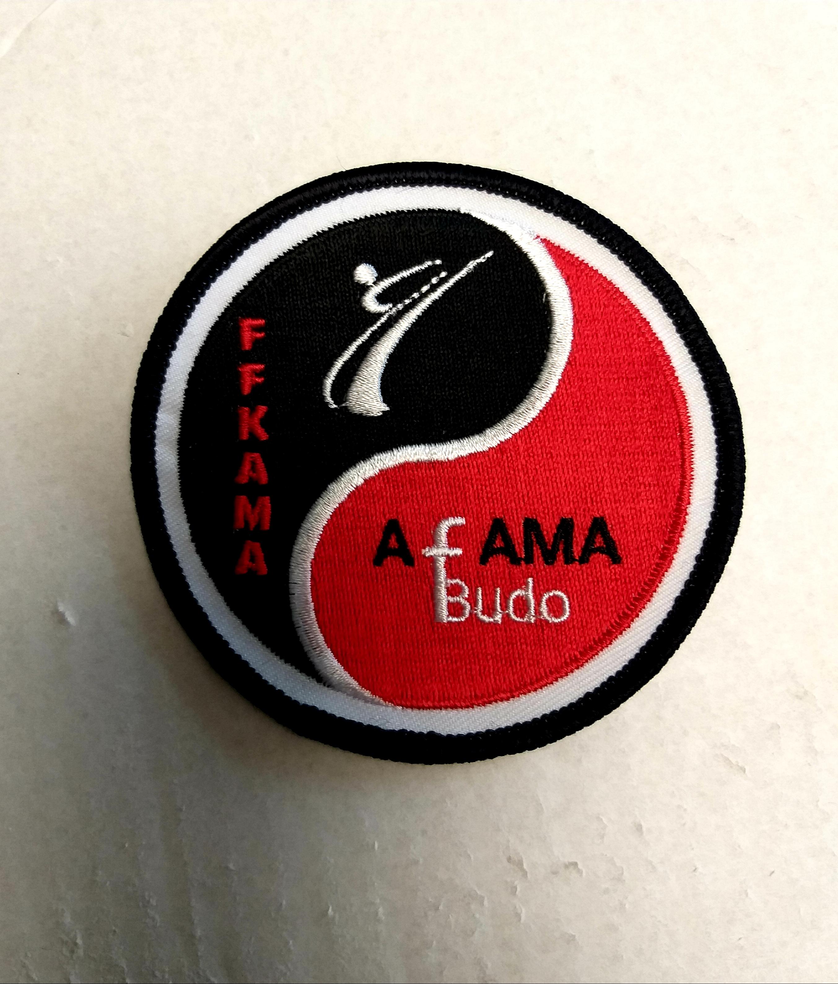 Arrivée des écussons de la Commission AFAMA Budo de la FFKAMA Belgique.